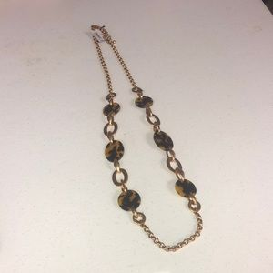 NWT Chico's Gold & Tortoise Necklace